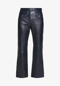 Coach - PANT - Leather trousers - navy - 5