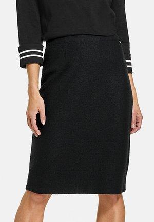 KURZ AUS WOLLE - Pleated skirt - schwarz