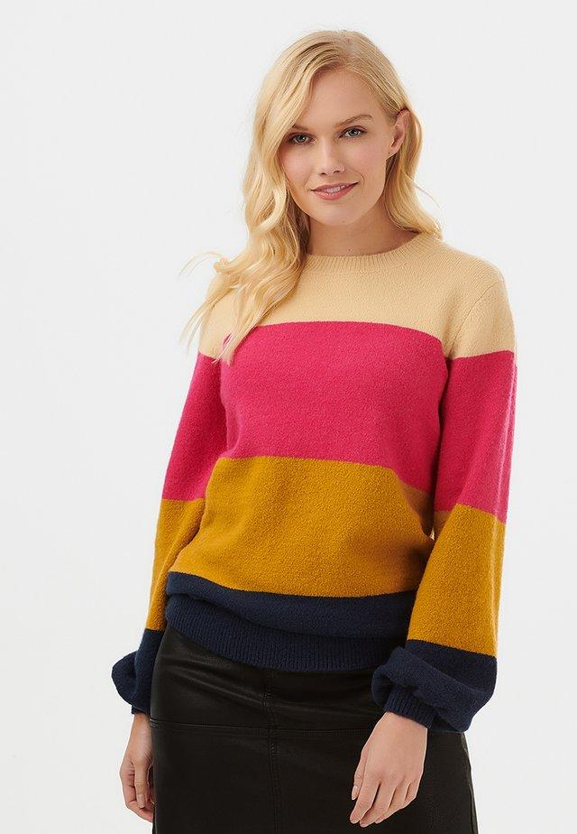 SWEATER ZURI BLOCK STRIPE - Sweater - multi