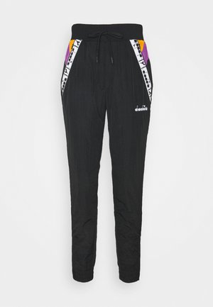 PANTS - Tracksuit bottoms - black/hyacinth volt/autumn glory