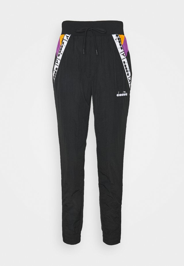 PANTS - Pantaloni sportivi - black/hyacinth volt/autumn glory