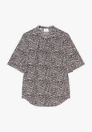 Button-down blouse - white/brown