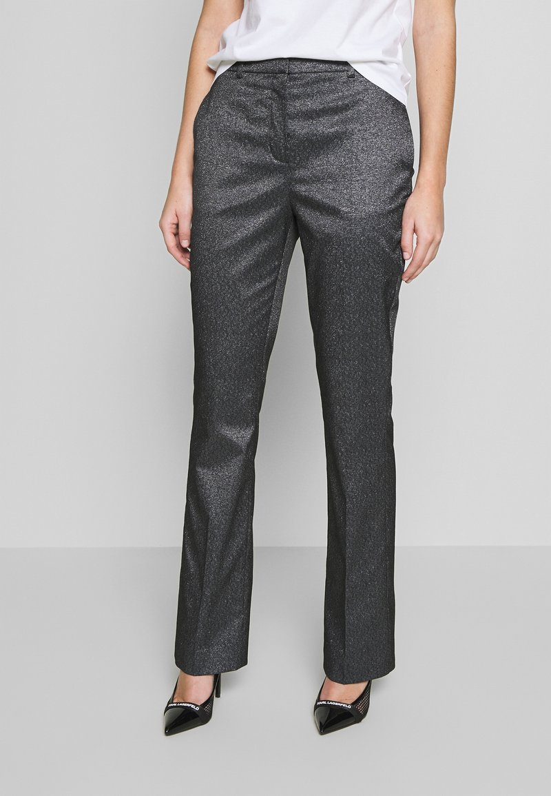 KARL LAGERFELD - SPARKLE TUXEDO PANTS - Kalhoty - black
