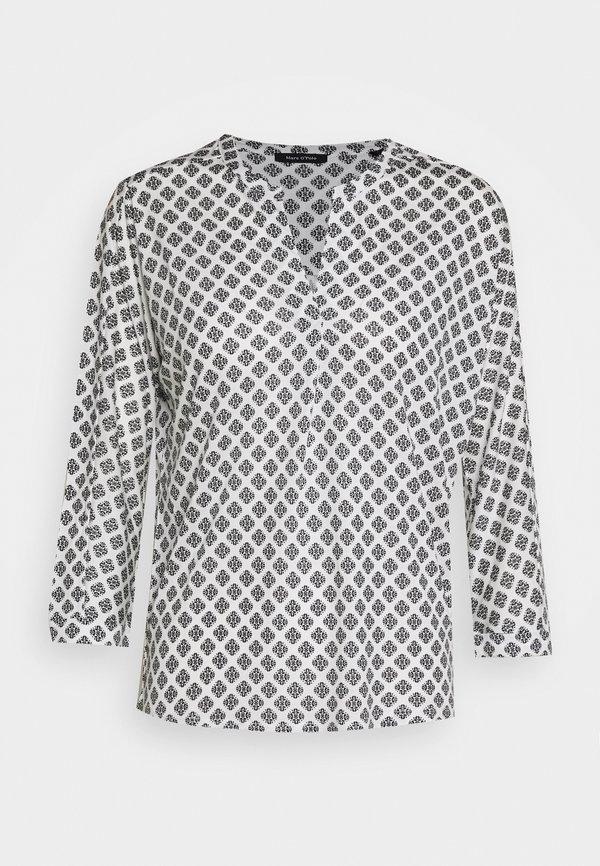 Marc O'Polo SLEEVE - Bluzka z długim rękawem - oyster white Nadruk Odzież Damska FICR SL 2