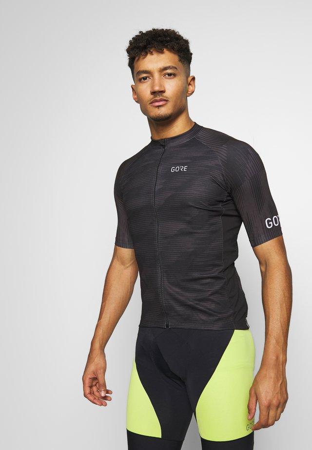 GORE® C3 DESIGN TRIKOT - Camiseta estampada - black
