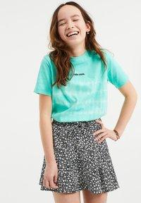 WE Fashion - T-shirt print - mint green - 1