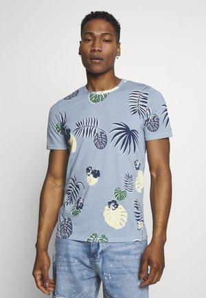 JORFLAME TEE CREW NECK - T-Shirt print - ashley blue