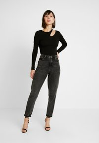Nly by Nelly - CUT OUT - T-shirt à manches longues - black - 1