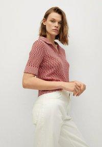 Mango - Print T-shirt - rosa - 4