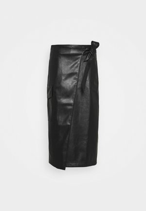 MARIE WRAP SKIRT - Pencil skirt - black