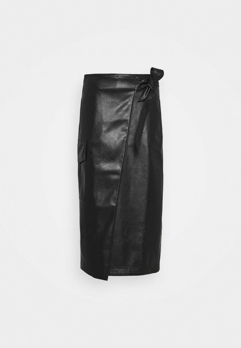 DESIGNERS REMIX - MARIE WRAP SKIRT - Pencil skirt - black