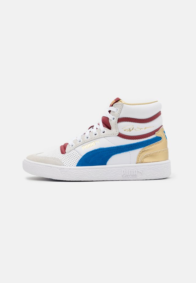 RALPH SAMPSON MID ROYAL FAM UNISEX - High-top trainers - white/lapis blue/red dahlia