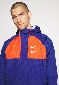 Nike Sportswear - Summer jacket - deep royal blue/team orange/white - 5