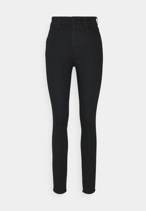STRINGFIELD ULTRA HIGH SKINNY WMN - Jeans Skinny Fit - black metalloid cobler