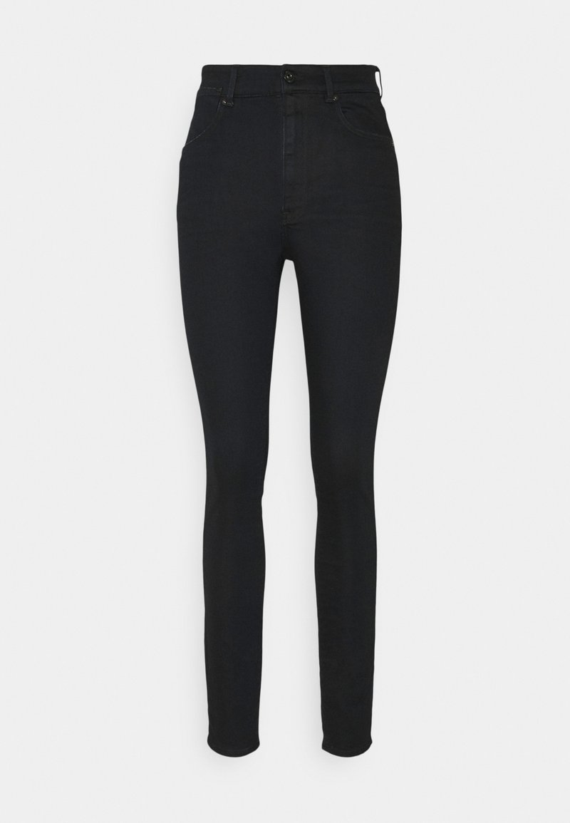 G-Star - STRINGFIELD ULTRA HIGH SKINNY WMN - Jeans Skinny Fit - black metalloid cobler