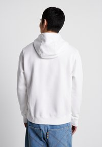 Nike Sportswear - CLUB HOODIE - Felpa con cappuccio - white/black - 2