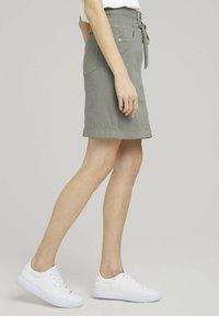 TOM TAILOR - MIT KORDELZUG - A-line skirt - prairie grass green - 2