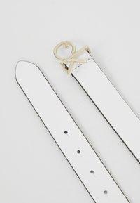 Calvin Klein - LOGO BELT - Cintura - white - 3