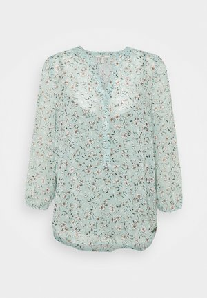 CRINKLE - Long sleeved top - turquoise