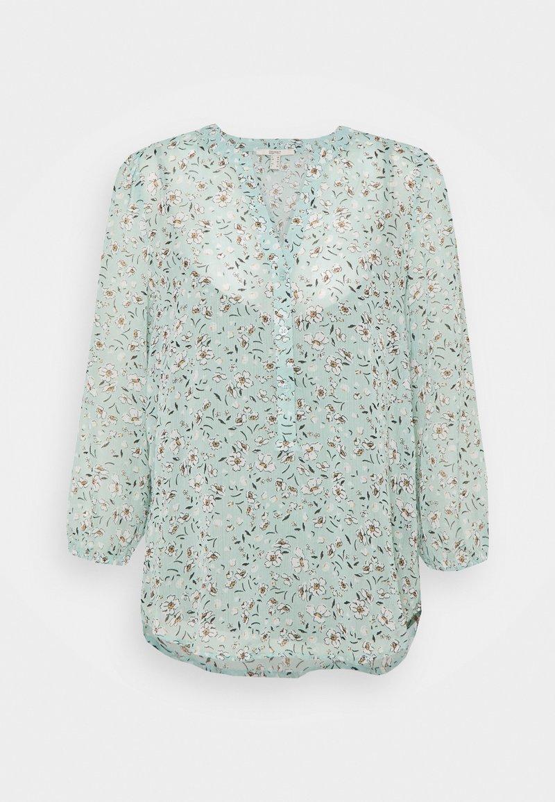 Esprit - CRINKLE - Top sdlouhým rukávem - turquoise