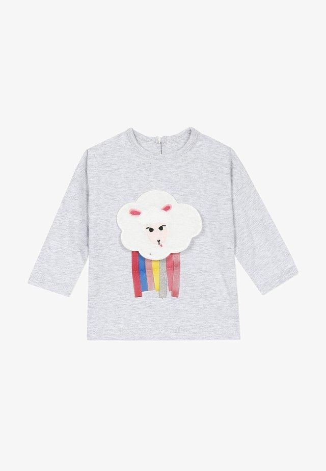 T-SHIRT JERSEY CHINÉ À MANCHES LONGUES - Camiseta de manga larga - light grey