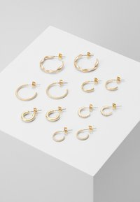Pieces - PCDIONA HOOP EARRINGS 6 PACK - Earrings - gold-coloured - 0