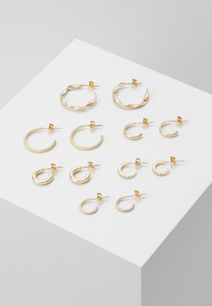 PCDIONA HOOP EARRINGS 6 PACK - Øredobber - gold-coloured