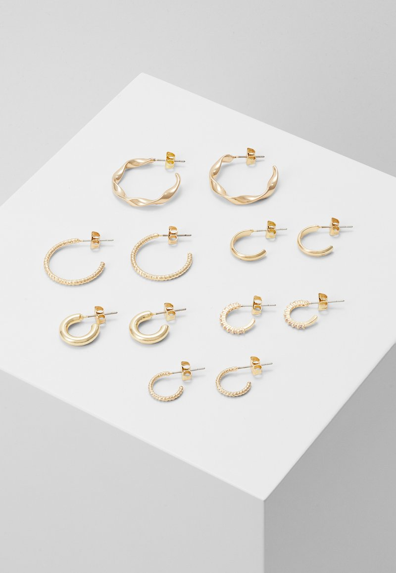 Pieces - PCDIONA HOOP EARRINGS 6 PACK - Earrings - gold-coloured