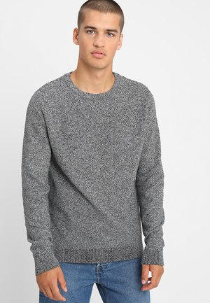 JJESTRUCTURE CREW NECK  - Pullover - jet stream/twisted with black