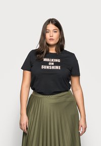 Kaffe Curve - TIVALIVA - Print T-shirt - black/gold - 0