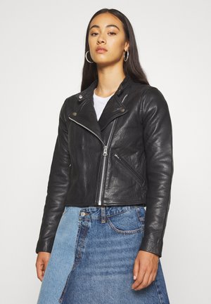 OBJSOPHIE BONITA JACKET - Leather jacket - black