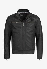 INDICODE JEANS - GERMO - Leather jacket - black - 4