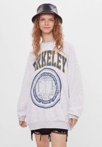 Bershka - MIT PRINT - Sweatshirt - light grey - 0