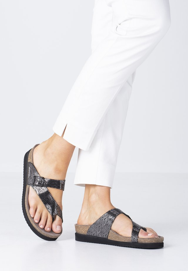 SCHUHE HELEN - T-bar sandals - black