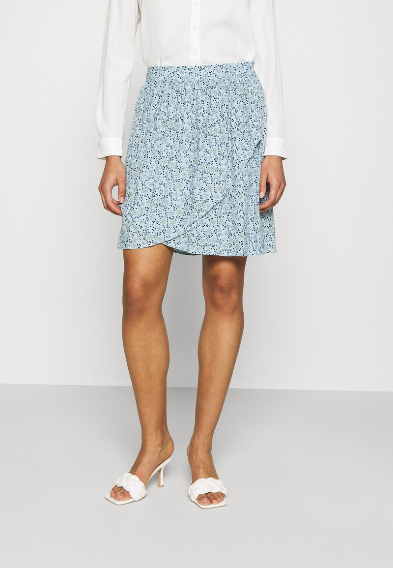 Moss Copenhagen - FADEA JALINA SKIRT - A-line skirt - blue