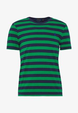T-shirt med print - green/dark blue