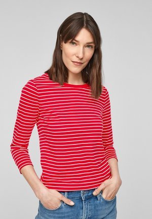 MIT RINGELMUSTER - Long sleeved top - red stripes
