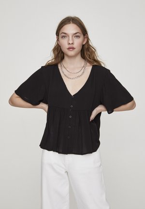 Button-down blouse - dark grey