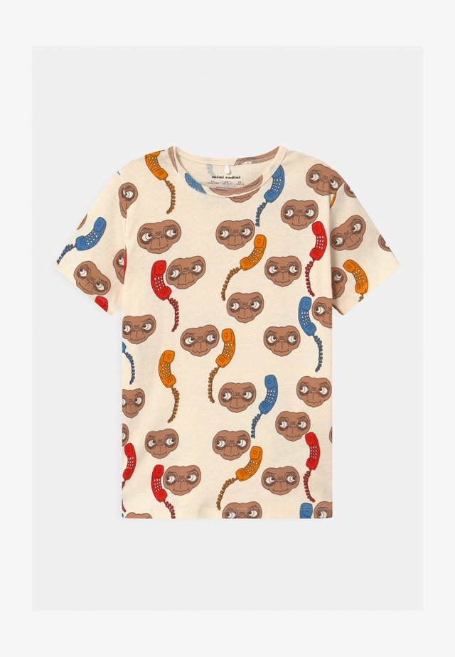 E.T. UNISEX - T-shirt con stampa - offwhite