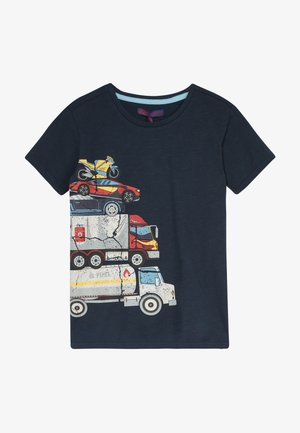 SMALL BOYS  - Print T-shirt - navy blazer