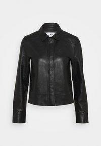 FRESH - Veste en cuir - black