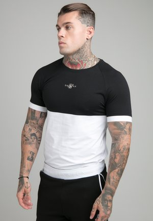 SURFACE TECH TEE - T-shirt con stampa - black/white