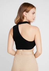 Missguided Petite - CUT OUT NECK CROP 2 PACK - Top - black/lime - 2