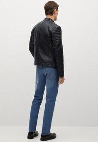 Mango - JOSENO - Leather jacket - black - 2