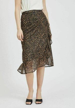 A-line skirt - tigers eye