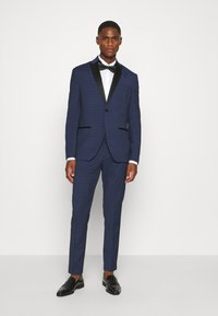 Isaac Dewhirst - CHECK TUX - Garnitur - dark blue - 0