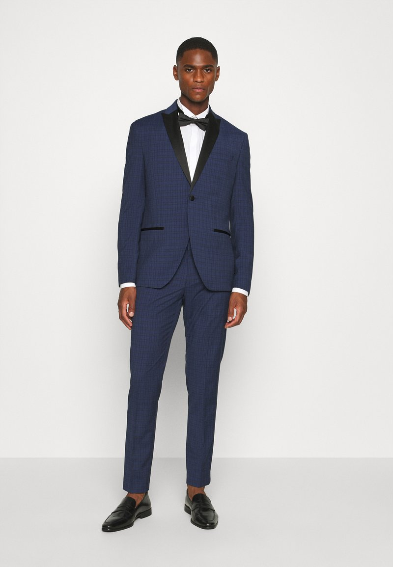 Isaac Dewhirst - CHECK TUX - Suit - dark blue
