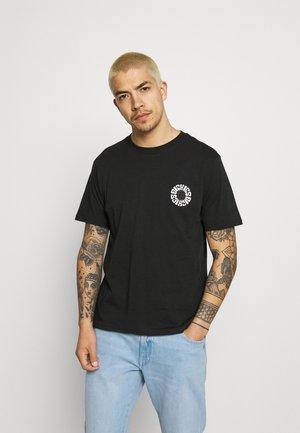GLOBE TEE - Print T-shirt - black