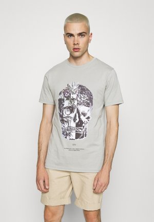 SKULL TEE - T-shirt print - grey