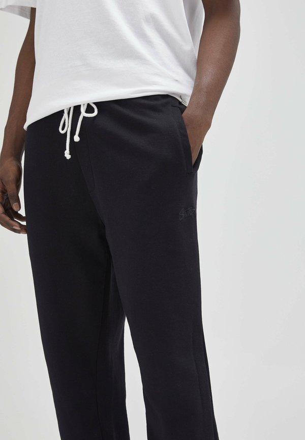 PULL&BEAR Spodnie treningowe - black/czarny Odzież Męska PUJR